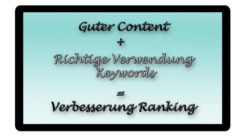 Guter Content & richtige Verwendung Keywords