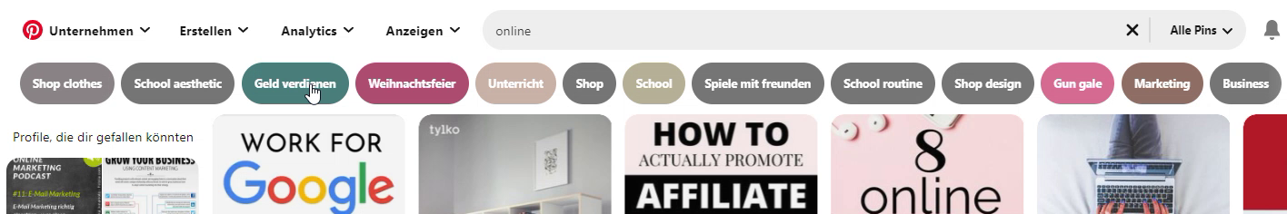 Tipps Pinterest-SEO